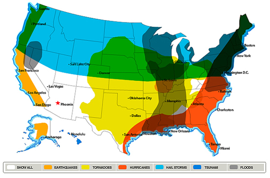 Archived Posts - Us natural distaster map
